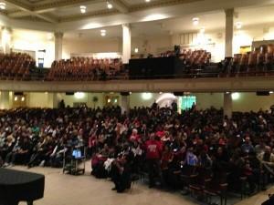 Audience during 2013 Keynote